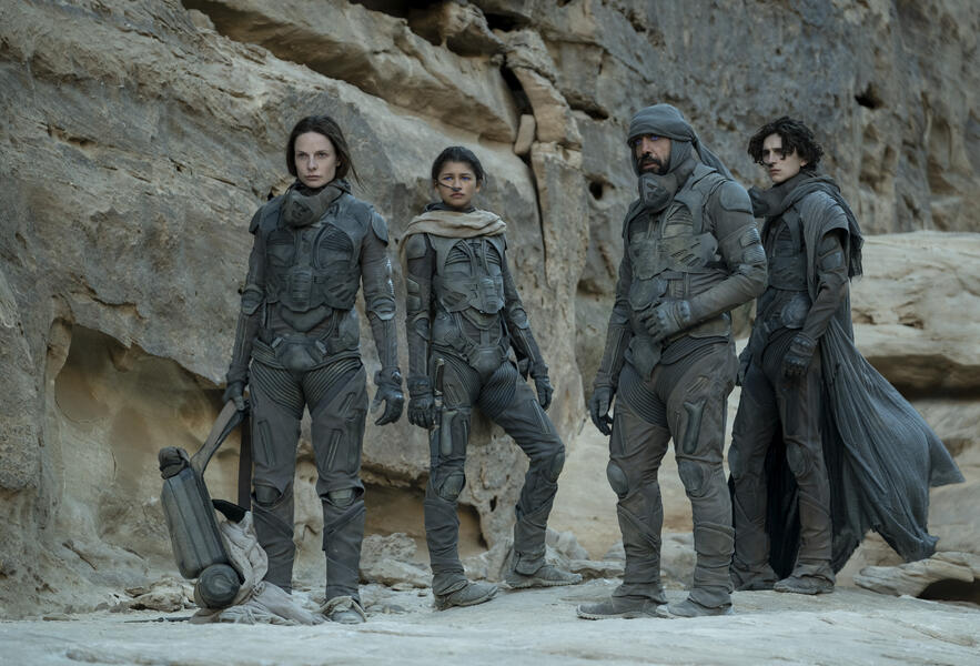 Dune mit Rebecca Ferguson, Timothée Chalamet und Zendaya