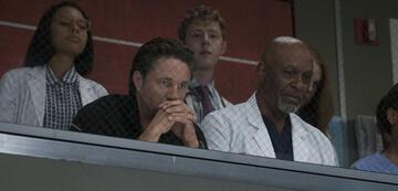 Nathan Riggs und James Pickens, Jr. in Grey's Anatomy Staffel 14, Episode 1