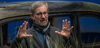 Steven Spielberg am Set von BFG
