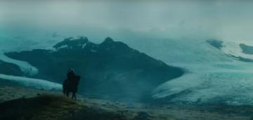 Batman auf einem Pferd