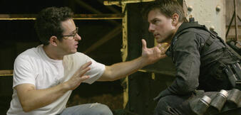 J.J. Abrams & Tom Cruise bei Mission: Impossible III