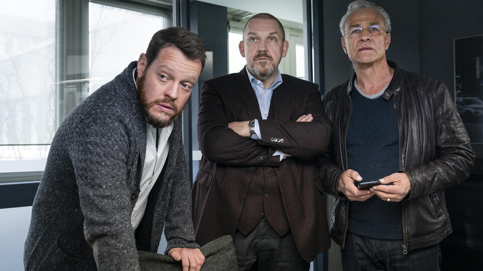 Tatort: Kein Mitleid, keine Gnade  mit Dietmar Bär, Klaus J. Behrendt und Roland Riebeling