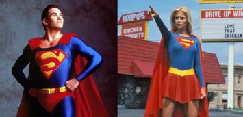 Bild zu:  Dean Cain als Superman & Helen Slater als Supergirl