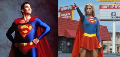 Dean Cain als Superman & Helen Slater als Supergirl