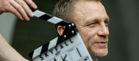 Daniel Craig am Set zu Skyfall