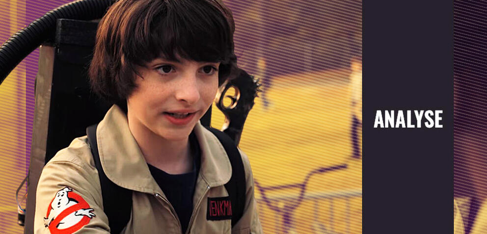 Finn Wolfhard im Ghostbusters-Kostüm in Stranger Things