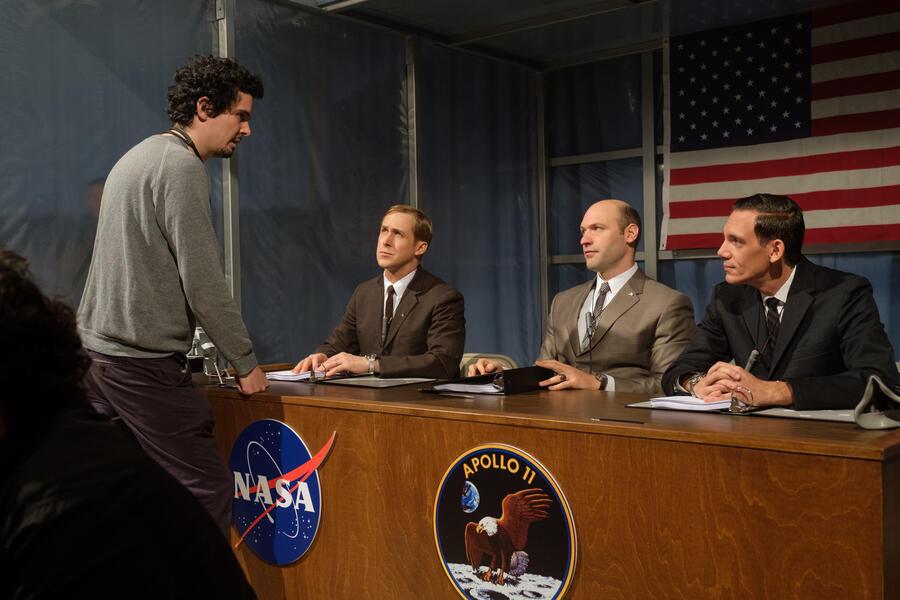 Aufbruch zum Mond mit Ryan Gosling, Damien Chazelle, Corey Stoll und Lukas Haas