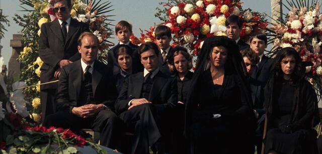 Vito Corleones Beerdigung in Der Pate