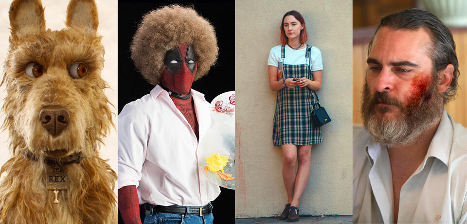 Isle of Dogs, Deadpool 2, Lady Bird, A Beautiful Day