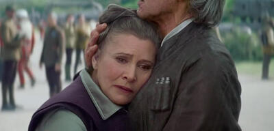 Carrie Fisher als Leia in Star Wars Episode VII