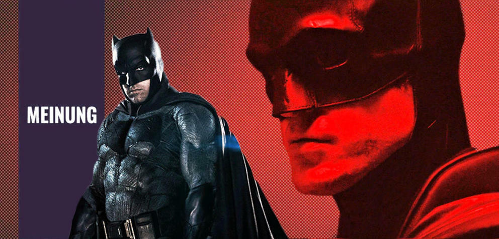 Ben Affleck und Robert Pattinson als Batman