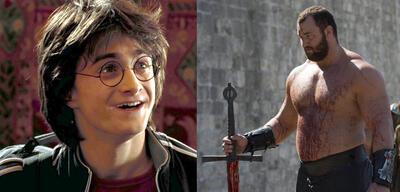 Daniel Radcliffe in Harry Potter/Hafbór Július Björnsson in Game of Thrones