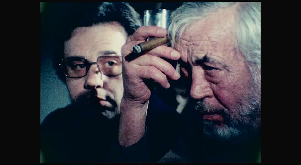 The Other Side of the Wind mit John Huston und Peter Bogdanovich