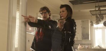 Bild zu:  Paul W.S. Anderson mit Frau Milla Jovovich am Set von Resident Evil: Retribution