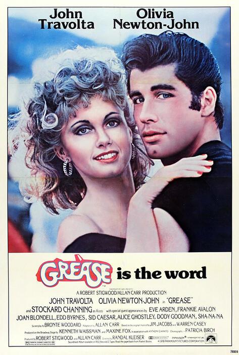 Grease mit John Travolta und Olivia Newton-John