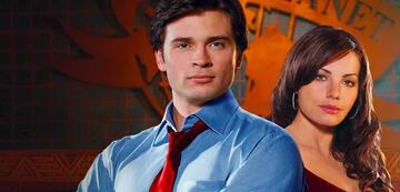 Tom Welling und Erica Durance in Smallville