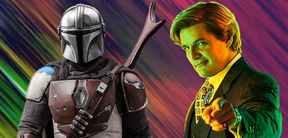 Pedro Pascal als The Mandalorian & Maxwell Lord