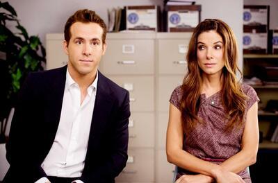 Ryan Reynolds und Sandra Bullock in Selbst ist die Braut