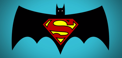 Logo zu Batman vs Superman: Dawn of Justice im Retro-Style