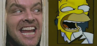Shining mit Jack Nicholson und Homer Simpson