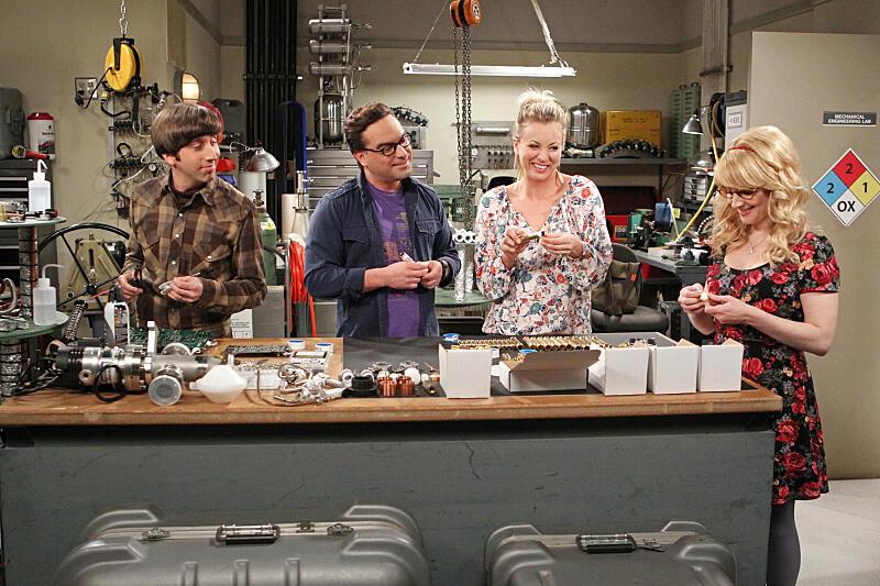 The Big Bang Theory Staffel 9 mit Johnny Galecki und Melissa Rauch