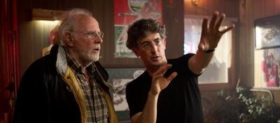 Alexander Payne mit Bruce Dern am Set von Nebraska