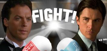 Bild zu:  Michael Keaton gegen Christian Bale
