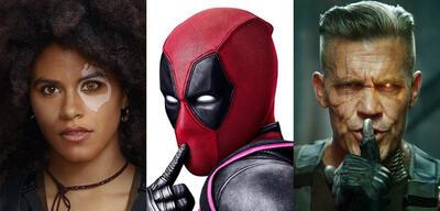 Zazie Beetz, Ryan Reynolds und Josh Brolin aus Deadpool 2