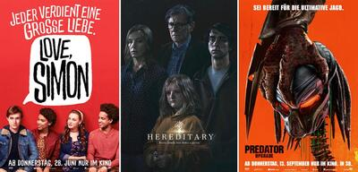 Love, Simon, Hereditary - Das Vermächtnis, Predator - Upgrade