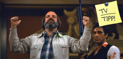 Brian De Palma am Set von Scarface