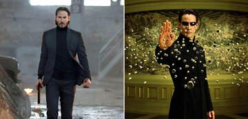 Keanu Reeves in John Wick und Matrix