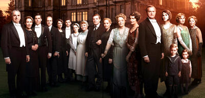 Die Downton Abbey-Besetzung in Staffel 6