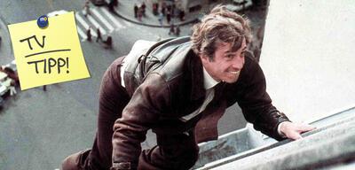 Angst über der Stadt:Jean-Paul Belmondo in schwindelerregender Höhe