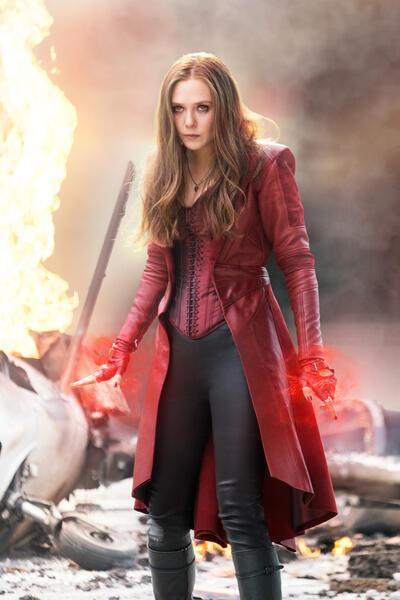 The First Avenger: Civil War mit Elizabeth Olsen