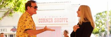 Quentin Tarantino & Margot Robbie am Set von OUATIH