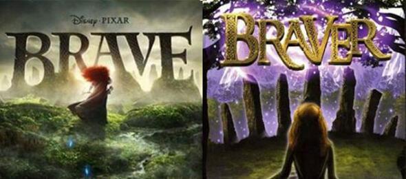 Zwei Filmposter, wie sie unterschiedlicher nicht sein könnten: Brave vs. Braver