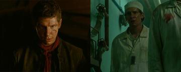 Karl Davies als Alton Lannister und Viktor Proskuryakov