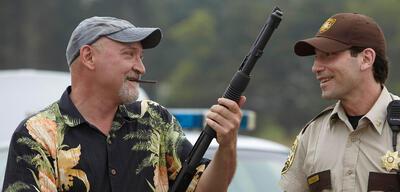 Frank Darabont am Set von The Walking Dead