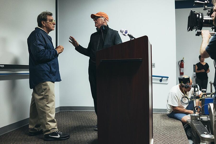 Paterno mit Al Pacino und Barry Levinson