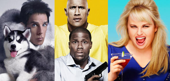 Teaserposter zu den Komödien Zoolander 2, Central Intelligence und How to be Single