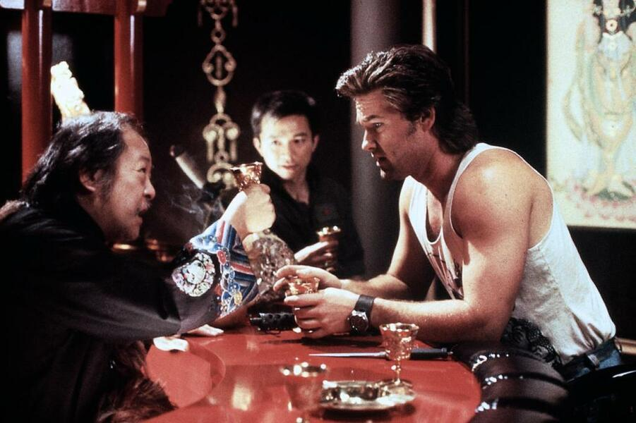 Big Trouble in Little China mit Kurt Russell, Victor Wong und Dennis Dun