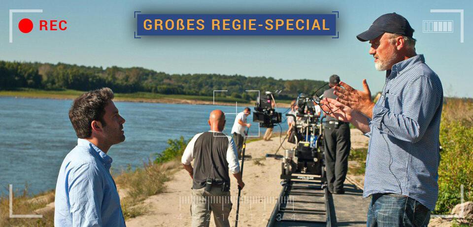 David Fincher und Ben Affleck am Set von Gone Girl