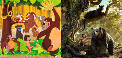 Die Poster zum Zeichentrick-Dschungelbuch und dem CGI-Jungle Book