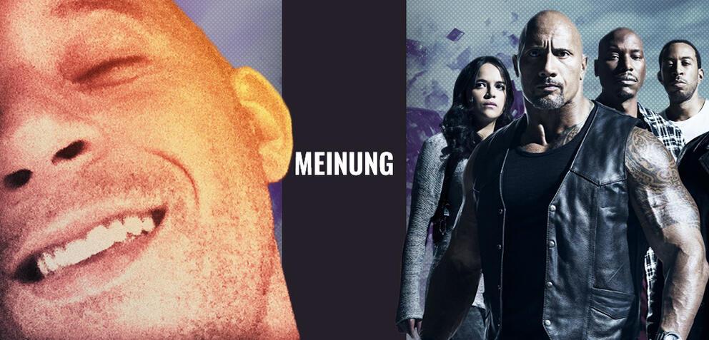 Ein strahlender Vin Diesel und der Fast & Furious-Cast