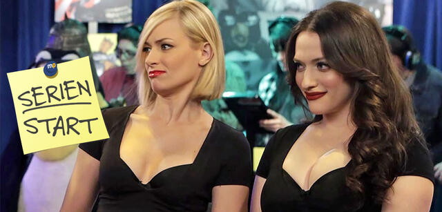 Beth Behrs und Kat Dennings in 2 Broke Girls