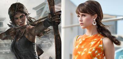 Lara Croft und ihre zukünftige DarstellerinAlicia Vikander