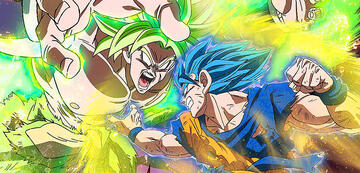 Son-Goku als Super-Saiyajin Blue vs. Broly