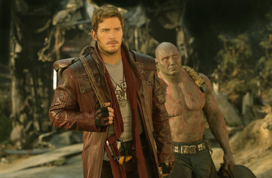 Guardians of the Galaxy Vol. 2 mit Chris Pratt und Dave Bautista