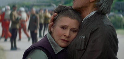 Carrie Fisher in Star Wars Episode VII