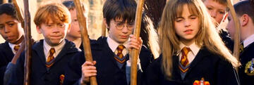 Harry Potters erster Besenflug in Stein der Weisen